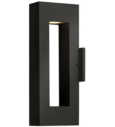 Hinkley Lighting Atlantis 2 Light Outdoor Wall Lantern in Satin Black 1640SK-LED