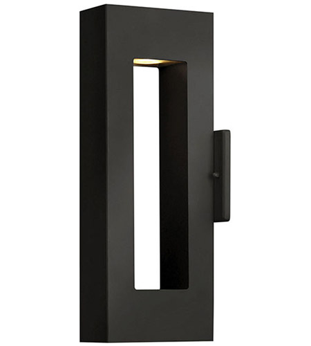 Hinkley 1640SK Atlantis 2 Light 16 inch Satin Black Outdoor Wall Lantern in Incandescent photo
