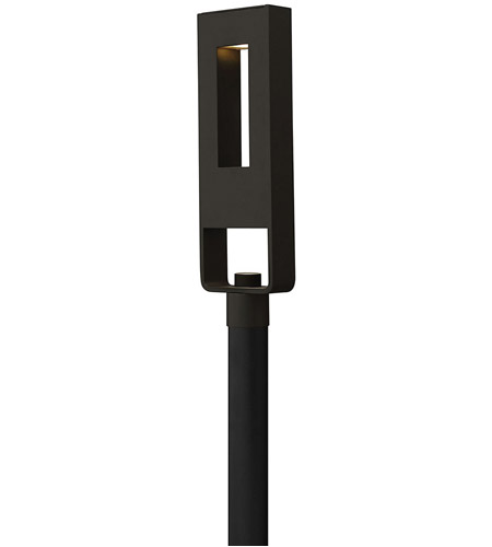 Hinkley Lighting Atlantis 2 Light Post Lantern (Post Sold Separately) in Satin Black 1641SK-LED