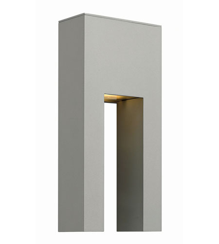Hinkley Lighting Atlantis 1 Light Outdoor Wall in Titanium 1642TT-LED