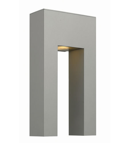 Hinkley Lighting Atlantis 1 Light Outdoor Wall in Titanium 1643TT-LED