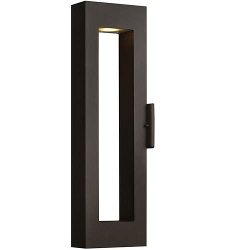 Hinkley Lighting Atlantis 2 Light Outdoor Wall Lantern in Satin Black 1644SK-LED