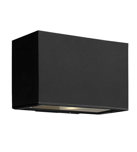 Hinkley Lighting Atlantis 1 Light GU24 CFL Outdoor Wall in Satin Black 1645SK-GU24