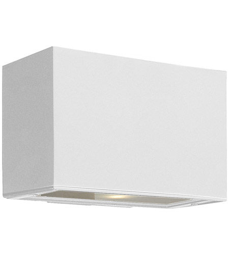 Hinkley 1645SW Atlantis 1 Light 6 inch Satin White Outdoor Wall Mount in Incandescent photo