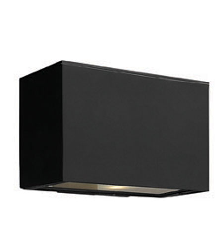 Hinkley Lighting Atlantis 1 Light Outdoor Wall Lantern in Satin Black 1646SK-ES photo