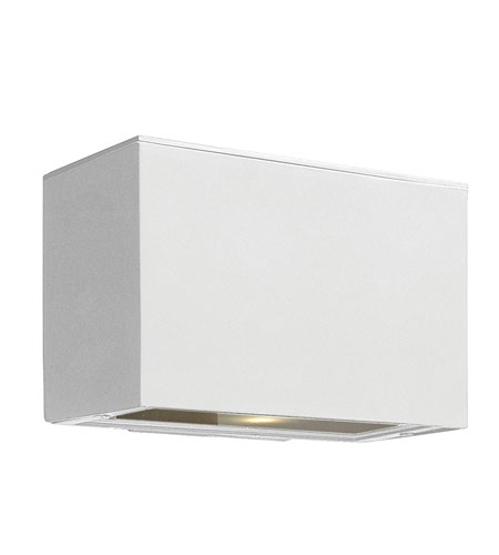 Hinkley Lighting Atlantis 1 Light GU24 CFL Outdoor Wall in Satin White 1646SW-GU24