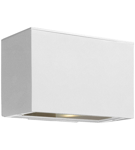 Hinkley Lighting Atlantis 1 Light Outdoor Wall Lantern in Satin White 1646SW