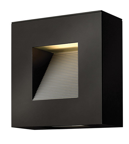Hinkley Lighting Luna 2 Light Outdoor Wall Lantern in Satin Black 1647SK photo