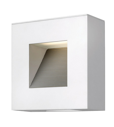 Hinkley 1647SW Luna 2 Light 9 inch Satin White Outdoor Wall Lantern in Etched Lens, Compact Fluorescent photo