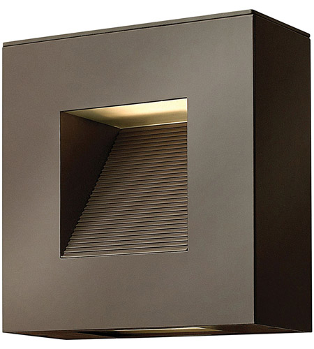 Hinkley 1647BZ-LED Luna LED 9 inch Bronze Outdoor Wall in Etched Lens photo