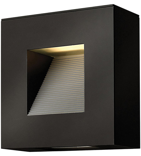 Hinkley 1647SK-LED Luna LED 9 inch Satin Black Outdoor Wall in Etched Lens photo