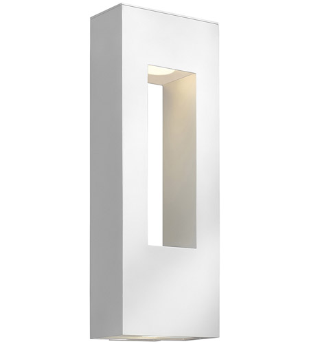 Hinkley Lighting Atlantis 2 Light Outdoor Wall Lantern in Satin White 1649SW