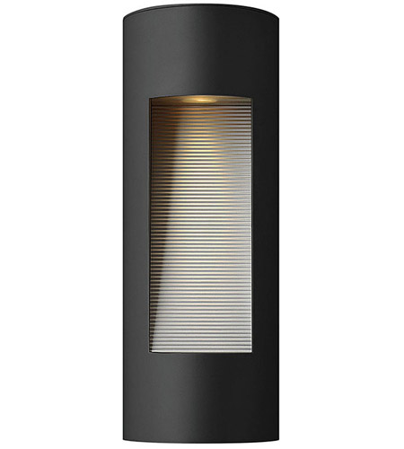 Hinkley 1660SK-LED Luna LED 16 inch Satin Black Outdoor Wall Lantern in Etched Lens photo