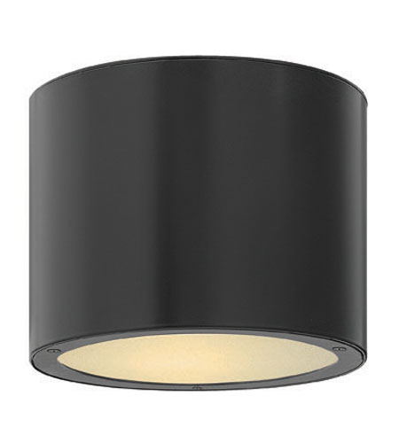 Hinkley Lighting Luna 1 Light Outdoor Ceiling Lantern in Satin Black 1663SK-ES