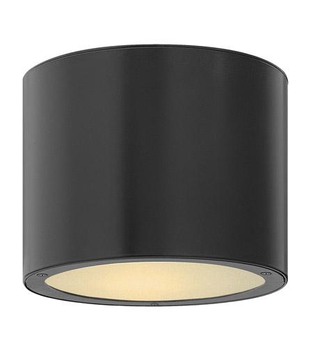 Hinkley Lighting Luna 1 Light GU24 CFL Outdoor Ceiling in Satin Black 1663SK-GU24