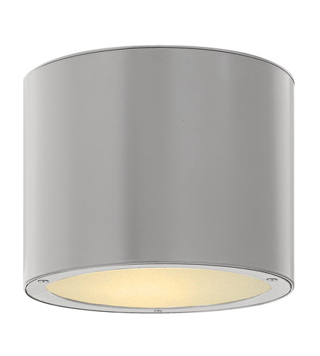Hinkley Lighting Luna 1 Light GU24 CFL Outdoor Ceiling in Titanium 1663TT-GU24