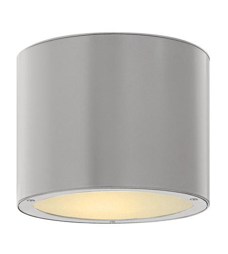 Hinkley Lighting Luna 2 Light Outdoor Ceiling Lantern in Titanium 1663TT-LED