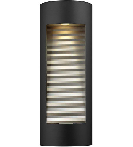Hinkley 1664SK Luna 2 Light 24 inch Satin Black Outdoor Wall Lantern in Etched Lens, Incandescent photo