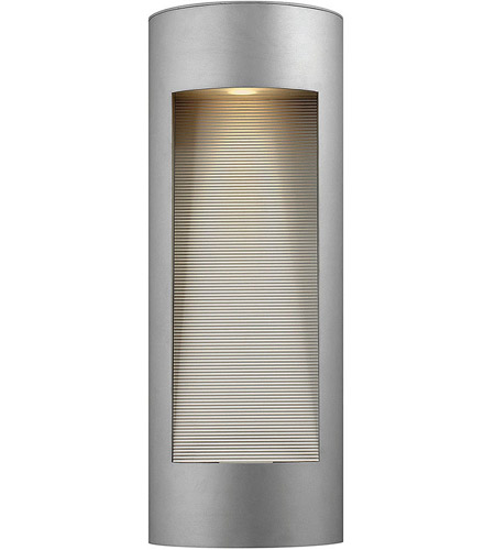 Hinkley Lighting Luna 2 Light Outdoor Wall Lantern in Titanium 1664TT-LED