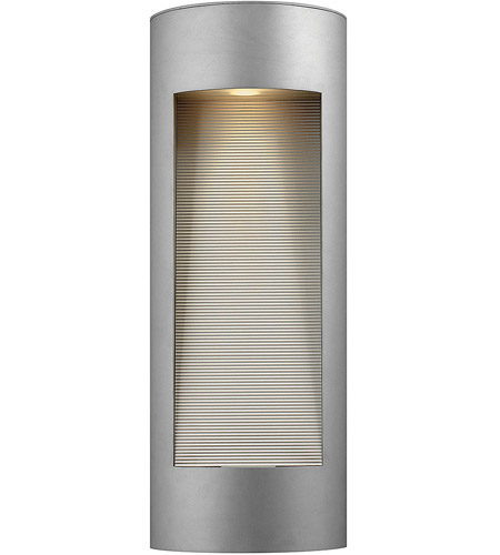 Hinkley 1664TT Luna 2 Light 24 inch Titanium Outdoor Wall Lantern in Etched, Incandescent photo