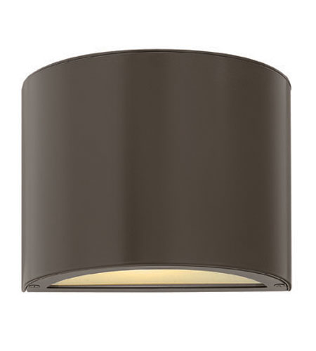 Hinkley Lighting Luna 1 Light Mini Outdoor Wall Pocket in Bronze 1666BZ-ES