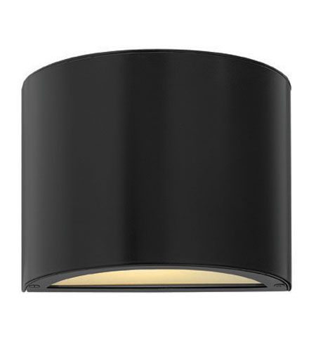 Hinkley Lighting Luna 1 Light Mini Outdoor Wall Pocket in Satin Black 1666SK-ES
