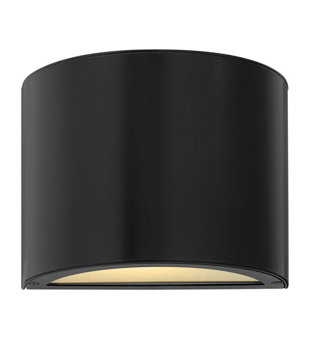Hinkley 1666SK-GU24 Luna 1 Light 7 inch Satin Black Mini Outdoor Wall Pocket in GU24 photo