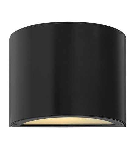 Hinkley Lighting Luna 2 Light LED Mini Outdoor Wall Pocket in Satin Black 1666SK-LED