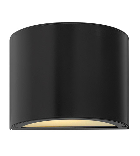 Hinkley Lighting Luna 1 Light Mini Outdoor Wall Pocket in Satin Black 1666SK