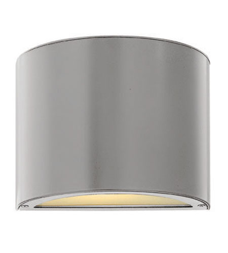 Hinkley Lighting Luna 1 Light Mini Outdoor Wall Pocket in Titanium 1666TT-ES