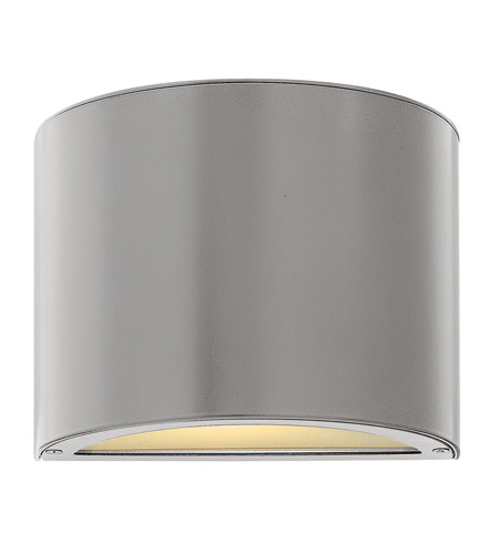 Hinkley Lighting Luna 1 Light GU24 CFL Mini Outdoor Wall Pocket in Titanium 1666TT-GU24