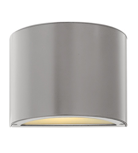 Hinkley Lighting Luna 1 Light Mini Outdoor Wall Pocket in Titanium 1666TT