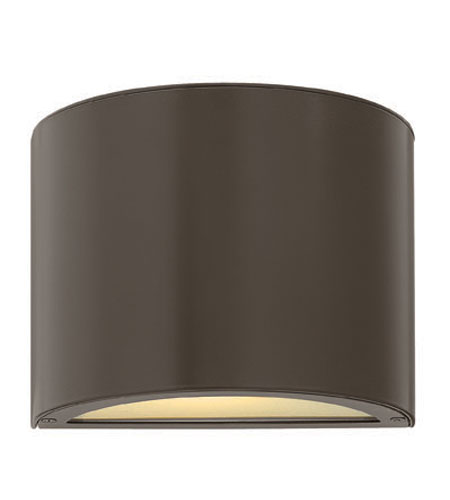 Hinkley Lighting Luna 1 Light Mini Outdoor Wall Pocket in Bronze 1667BZ-ES