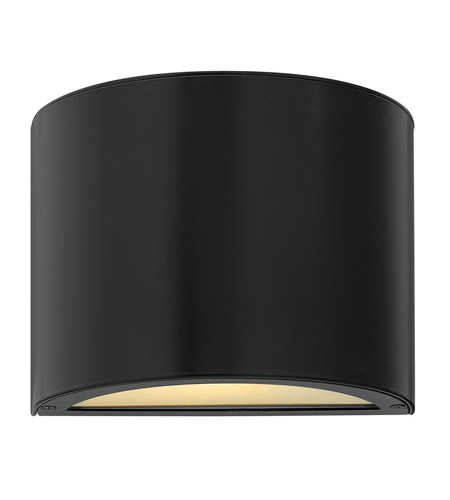 Hinkley 1667SK Luna 1 Light 7 inch Satin Black Mini Outdoor Wall Pocket in Incandescent photo