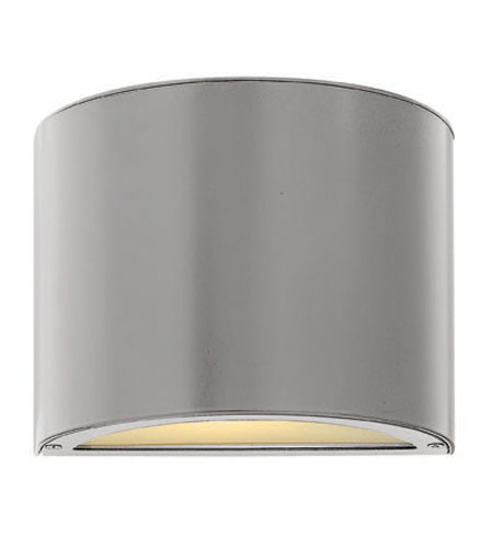 Hinkley Lighting Luna 1 Light Mini Outdoor Wall Pocket in Titanium 1667TT-ES