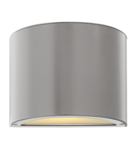 Hinkley Lighting Luna 1 Light GU24 CFL Mini Outdoor Wall Pocket in Titanium 1667TT-GU24