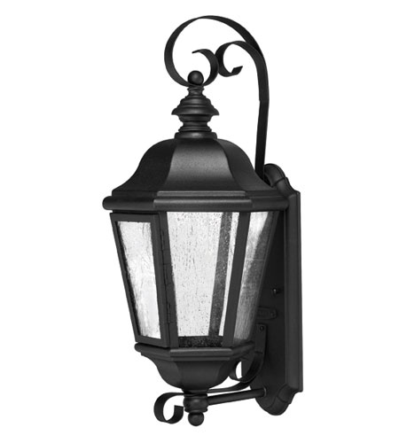 Hinkley Lighting Edgewater 1 Light Outdoor Wall Lantern in Black 1670BK-EST