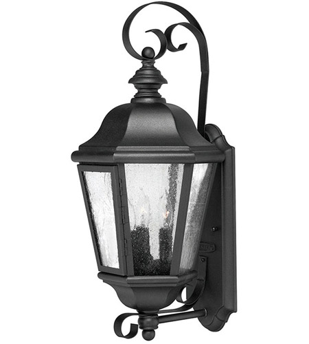 Hinkley Lighting Edgewater 3 Light Outdoor Wall Lantern in Black 1670BK photo