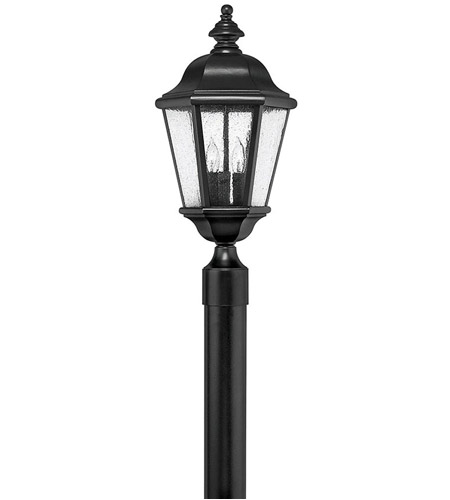 Hinkley 1671BK Edgewater 3 Light 21 inch Black Post Lantern in Seedy, Post Sold Separately photo