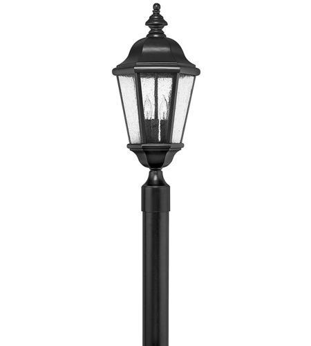 Hinkley Lighting Edgewater 3 Light Post Lantern (Post Sold Separately) in Black 1671BK