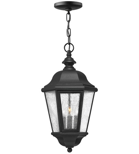 Hinkley Lighting Edgewater 3 Light Outdoor Hanging Lantern in Black 1672BK