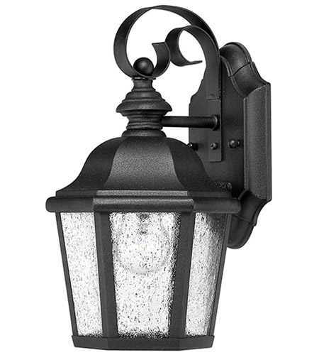 Hinkley 1674BK Edgewater 1 Light 11 inch Black Outdoor Wall Lantern in Seedy, Incandescent photo