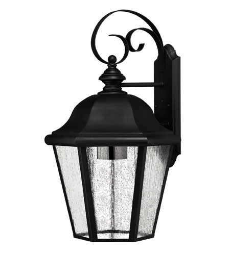 Hinkley Lighting Edgewater 1 Light Outdoor Wall Lantern in Black 1675BK-DS