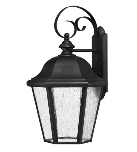 Hinkley Lighting Edgewater 1 Light Outdoor Wall Lantern in Black 1675BK-ES photo