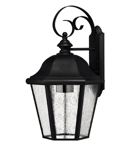 Hinkley Lighting Edgewater 1 Light Outdoor Wall Lantern in Black 1675BK-ESDS