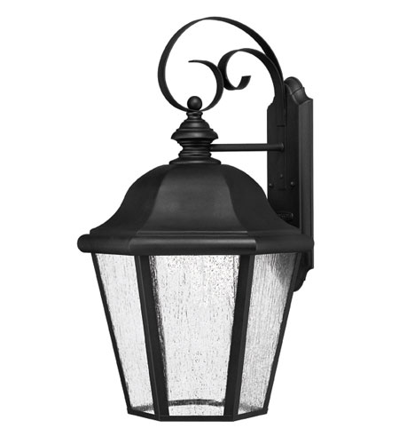 Hinkley Lighting Edgewater 1 Light Outdoor Wall Lantern in Black 1675BK-EST