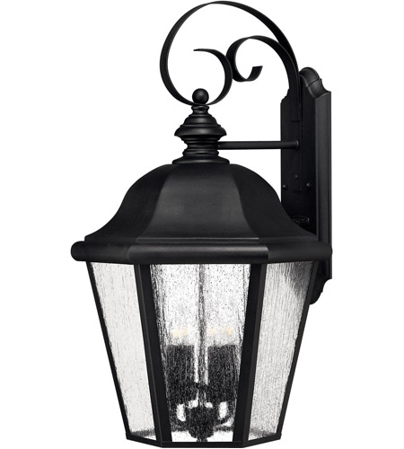 Hinkley 1675BK-LED Edgewater 1 Light 26 inch Black Outdoor Wall in Seedy, LED, Clear Seedy Glass photo