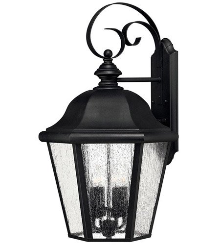 Hinkley 1675BK Edgewater 4 Light 26 inch Black Outdoor Wall Lantern in Seedy, Incandescent photo