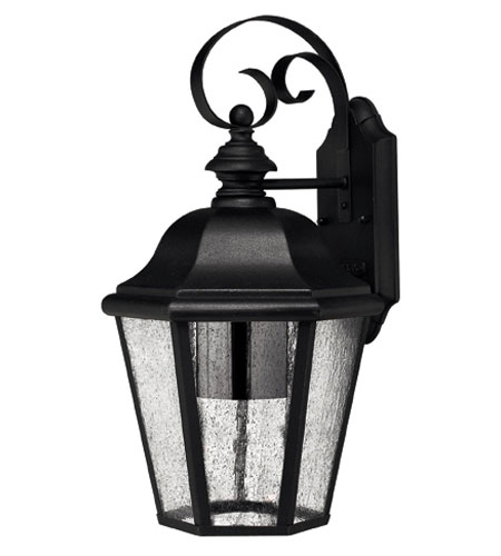 Hinkley Lighting Edgewater 1 Light Outdoor Wall Lantern in Black 1676BK-DS