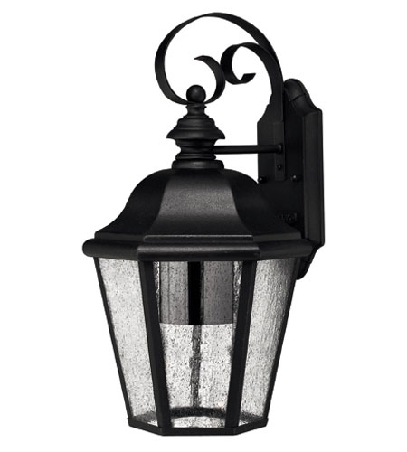 Hinkley Lighting Edgewater 1 Light Outdoor Wall Lantern in Black 1676BK-ESDS